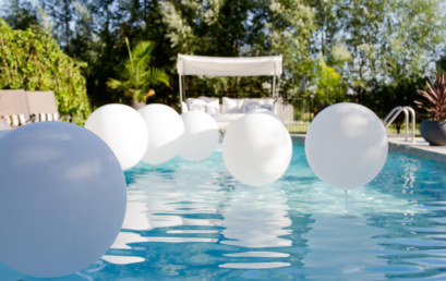 All White Pool Party